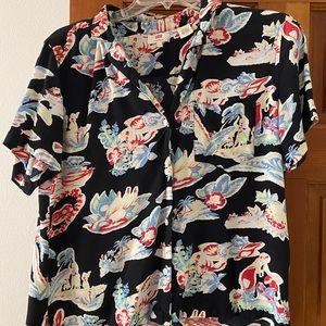 Women LEVIS Hawaiian shirt Large